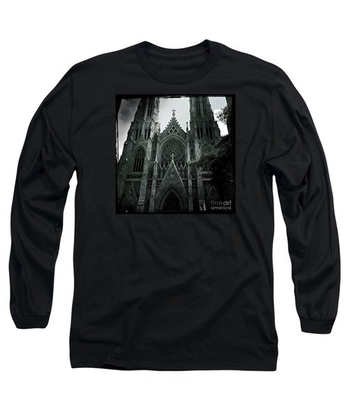 Beautiful St Patricks Cathedral Long Sleeve T-Shirt by Miriam Danar