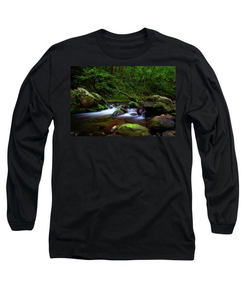Beautiful Stream In Tremont Smoky Mountains Tennessee Long Sleeve T-Shirt