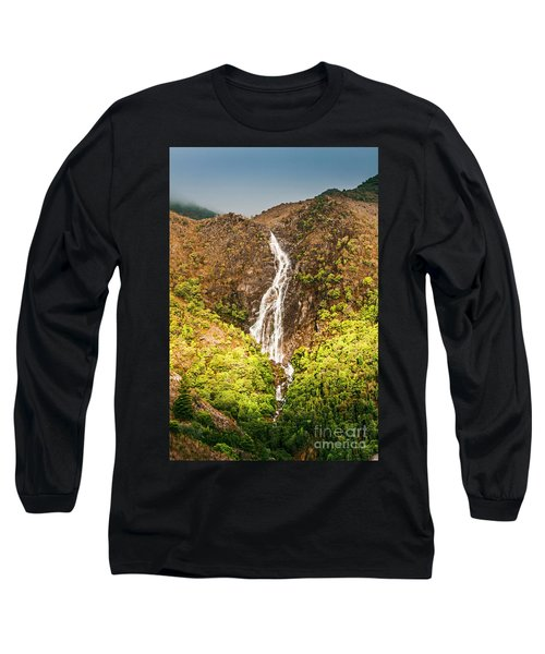 Beautiful Waterfall In Sunlight Long Sleeve T-Shirt