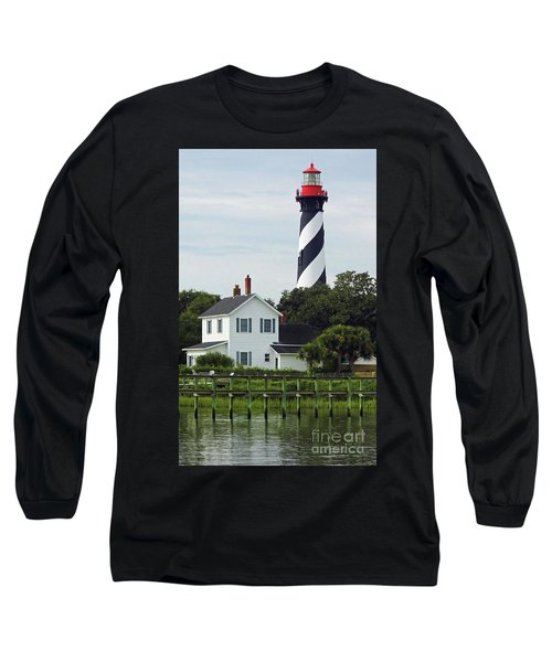 Beautiful Waterfront Lighthouse Long Sleeve T-Shirt by D Hackett