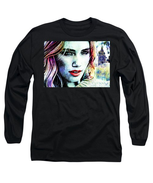 Beautiful Woman Long Sleeve T-Shirt by Zedi