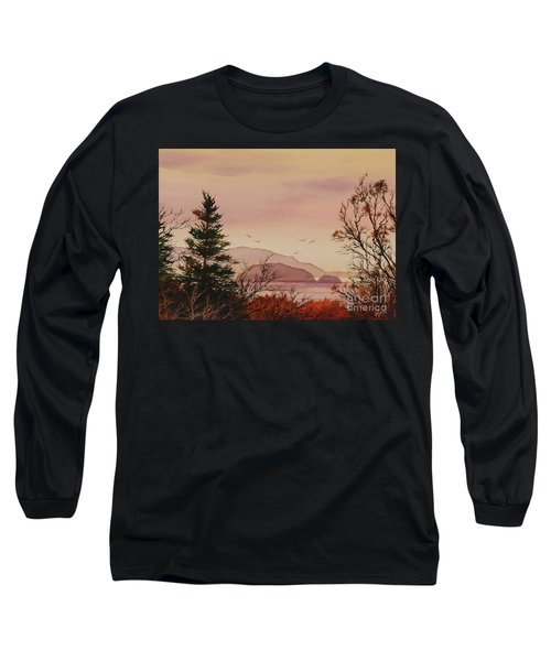 Long Sleeve T-Shirt featuring the painting Beauty At The Shore by James Williamson