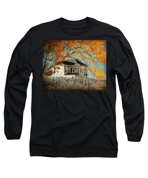 Beauty Surrounds Deserted Home Long Sleeve T-Shirt by Kathy M Krause