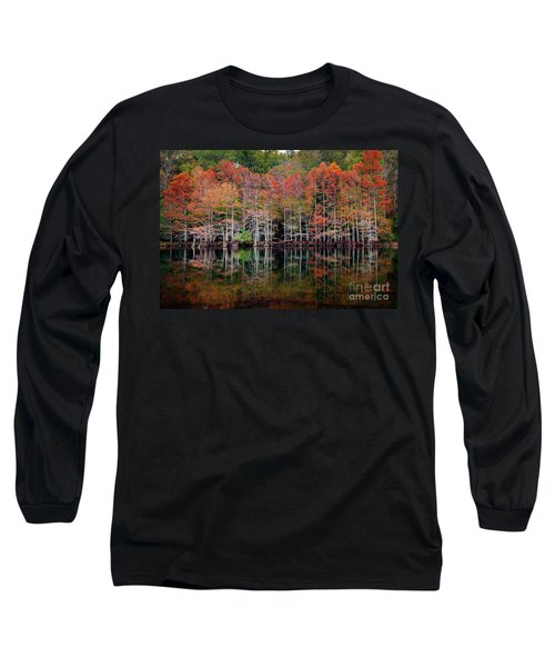 Beaver's Bend Cypress Soldiers Long Sleeve T-Shirt by Tamyra Ayles