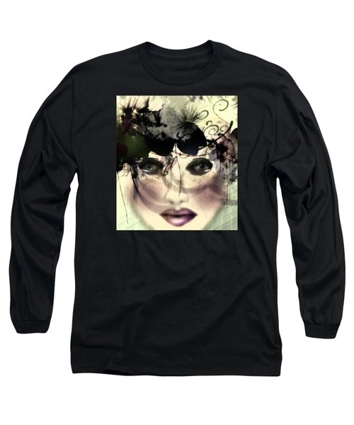 Long Sleeve T-Shirt featuring the digital art Becca by Katy Breen