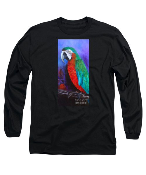 Becky The Macaw Long Sleeve T-Shirt by Jenny Lee