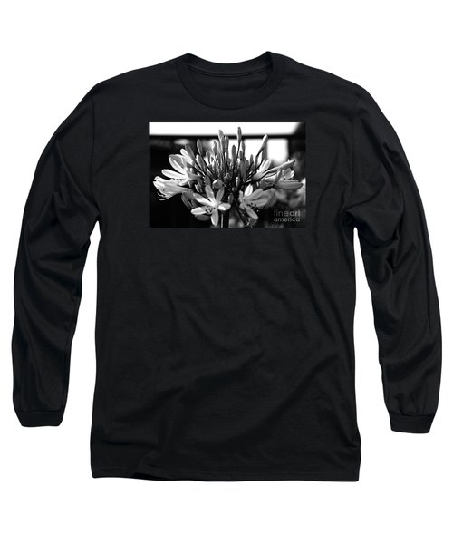 Becoming Beautiful - Bw Long Sleeve T-Shirt by Linda Shafer