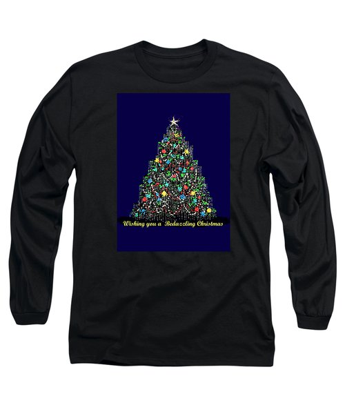 Bedazzled Christmas Card Long Sleeve T-Shirt by R  Allen Swezey