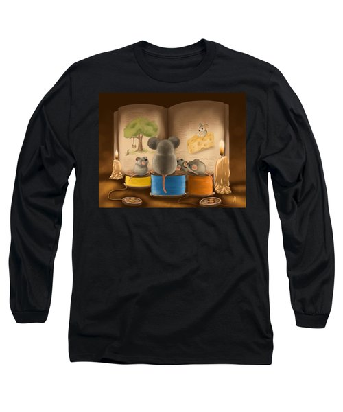 Long Sleeve T-Shirt featuring the painting Bedtime Story by Veronica Minozzi