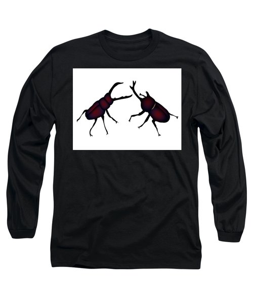 Beetle And Stag Beetle Long Sleeve T-Shirt