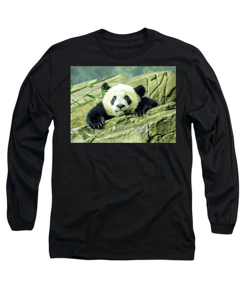 Bei Bei Panda At One Year Old Long Sleeve T-Shirt
