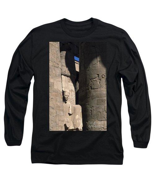 Belief In The Hereafter - Luxor Karnak Temple Long Sleeve T-Shirt