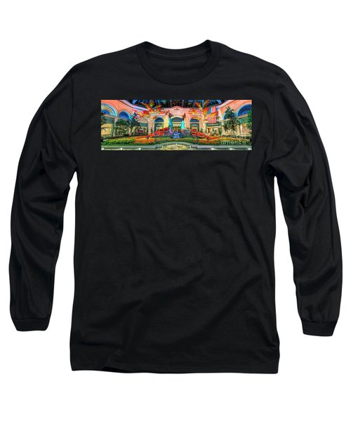 Bellagio Conservatory Fall Peacock Display Panorama 3 To 1 Ratio Long Sleeve T-Shirt