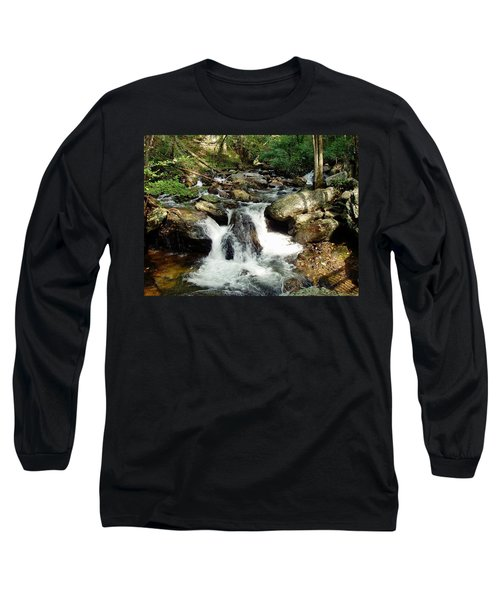 Long Sleeve T-Shirt featuring the photograph Below Anna Ruby Falls by Jerry Battle