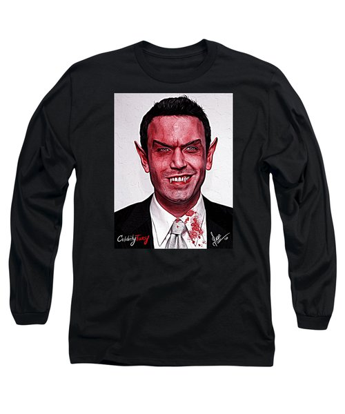Ben Affleck Long Sleeve T-Shirt by Gene Spino