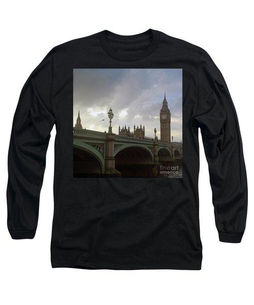Ben And The Bridge Long Sleeve T-Shirt by Sebastian Mathews Szewczyk