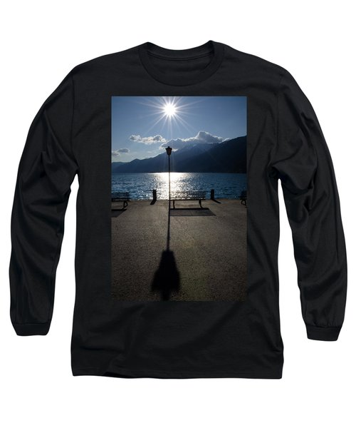 Bench And Street Lamp Long Sleeve T-Shirt