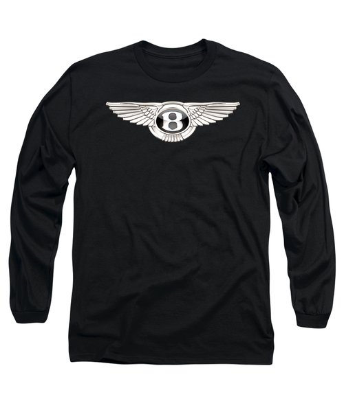 Bentley - 3 D Badge On Black Long Sleeve T-Shirt