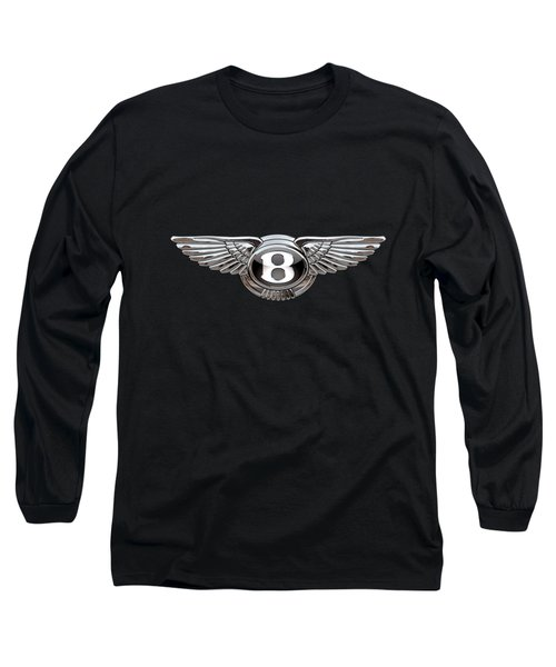 Bentley - 3d Badge On Black Long Sleeve T-Shirt by Serge Averbukh