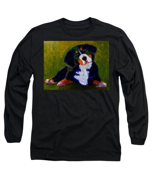 Bernese Mtn Dog Puppy Long Sleeve T-Shirt