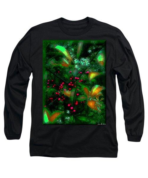 Berries Long Sleeve T-Shirt by Iowan Stone-Flowers