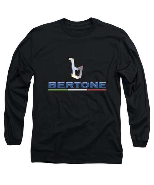 Bertone - 3 D Badge On Black Long Sleeve T-Shirt