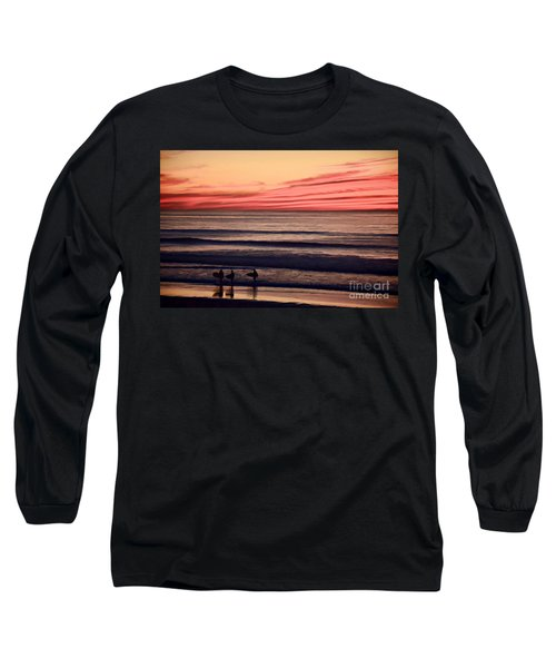 Beside Still Waters - Digital Paint Effect Long Sleeve T-Shirt by Sharon Soberon