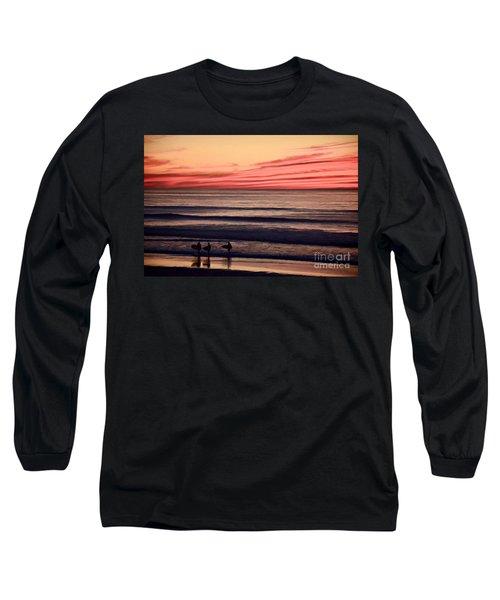 Beside Still Waters - Digital Paint Effect Long Sleeve T-Shirt