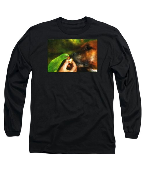Long Sleeve T-Shirt featuring the photograph Best Mates For Ever 001 by Kevin Chippindall