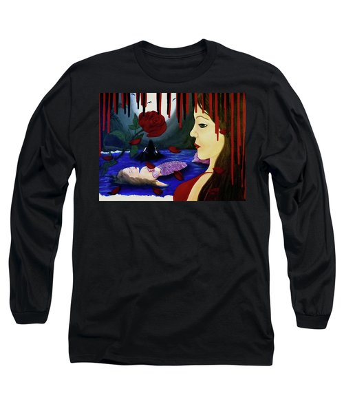 Long Sleeve T-Shirt featuring the painting Betrayal by Teresa Wing