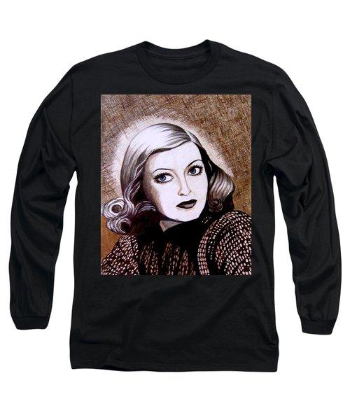 Bette Davis 1941 Long Sleeve T-Shirt by Tara Hutton