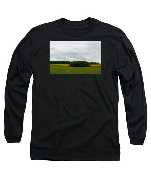 Long Sleeve T-Shirt featuring the photograph Between The Fields by Lyle Crump