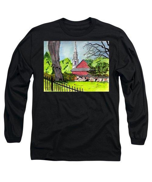 Beverly First Baptist Church Long Sleeve T-Shirt by Paul Meinerth