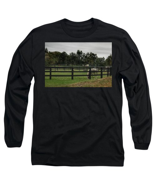 1004 - Beyond The Fence White Horse Long Sleeve T-Shirt