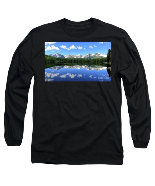 Bierstadt Lake In Rocky Mountain National Park Long Sleeve T-Shirt by Ronda Kimbrow