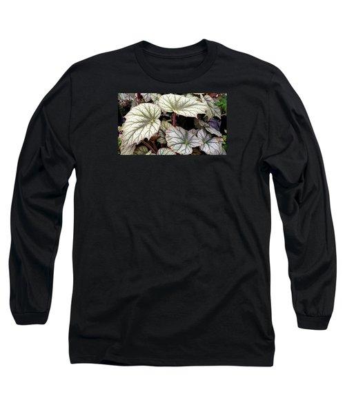 Big Begonia Leaves Long Sleeve T-Shirt by Nareeta Martin