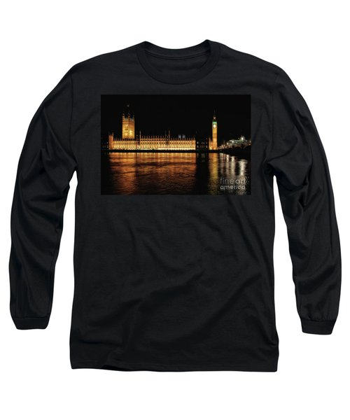 Big Ben And The Palace Of Westminster At Night Long Sleeve T-Shirt