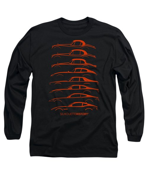 Big Cat Coupe Silhouettehistory Long Sleeve T-Shirt