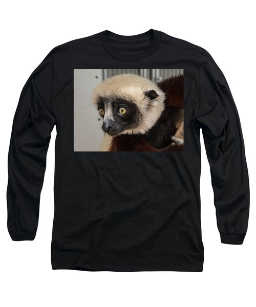 A Very Curious Sifaka Long Sleeve T-Shirt