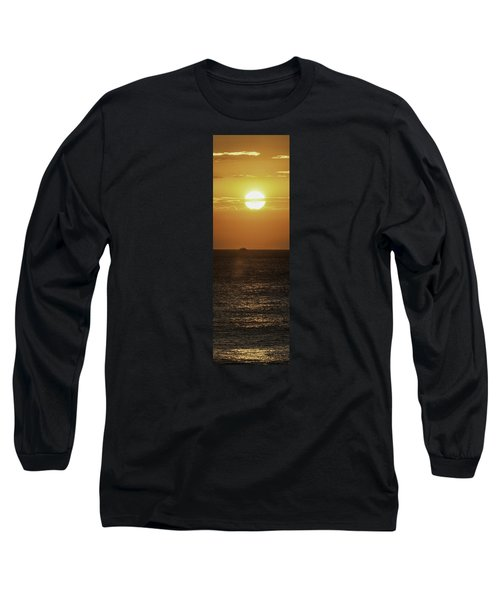 Long Sleeve T-Shirt featuring the photograph Big Ocean Small Boat by Jim Moore