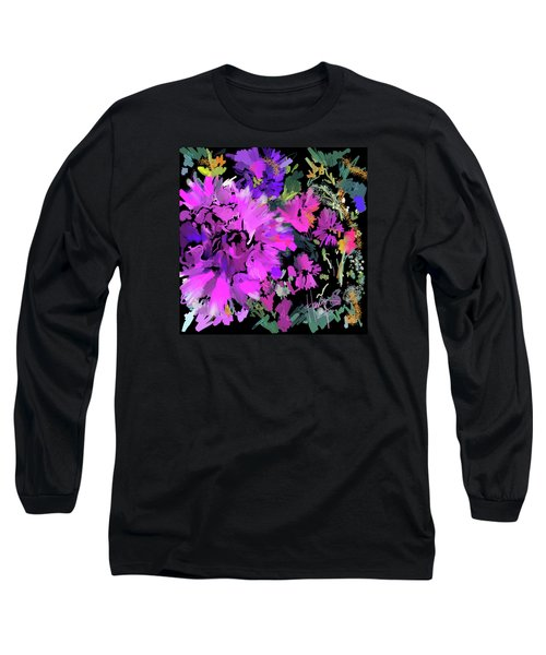 Big Pink Flower Long Sleeve T-Shirt by DC Langer
