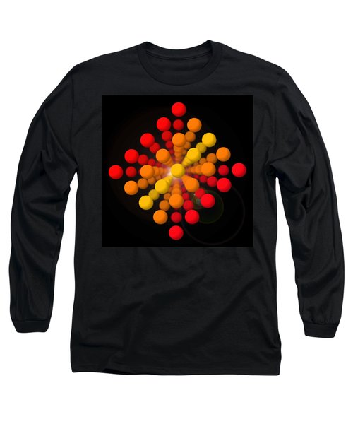 Big Red Figure Long Sleeve T-Shirt by Charles Stuart