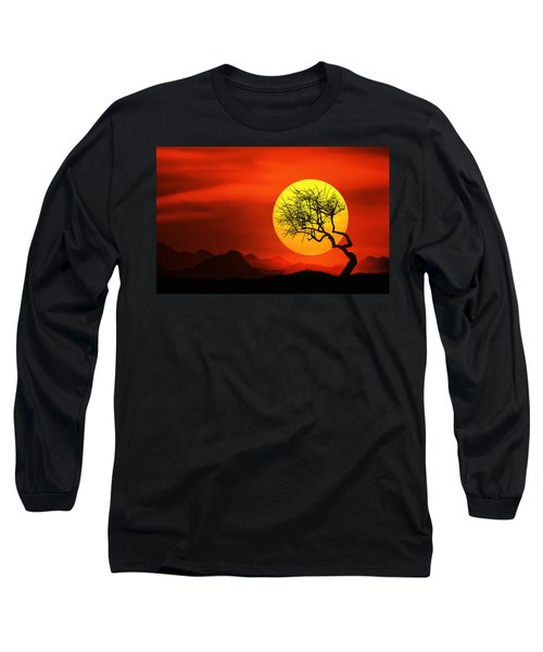 Big Sunset Long Sleeve T-Shirt by Bess Hamiti