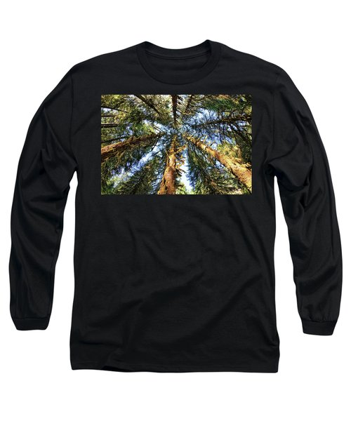 Big Trees In Olympic National Park Long Sleeve T-Shirt