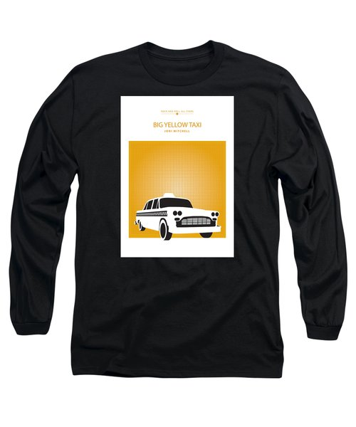 Long Sleeve T-Shirt featuring the drawing Big Yellow Taxi -- Joni Michel by David Davies