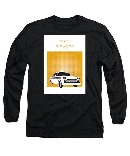 Big Yellow Taxi -- Joni Michel Long Sleeve T-Shirt by David Davies