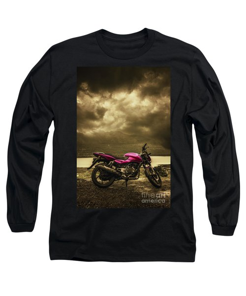 Bike Long Sleeve T-Shirt by Charuhas Images