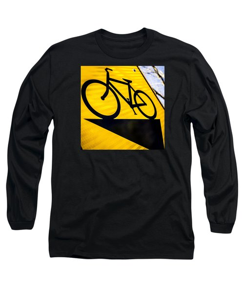 Long Sleeve T-Shirt featuring the photograph Bike Sign by Wade Brooks