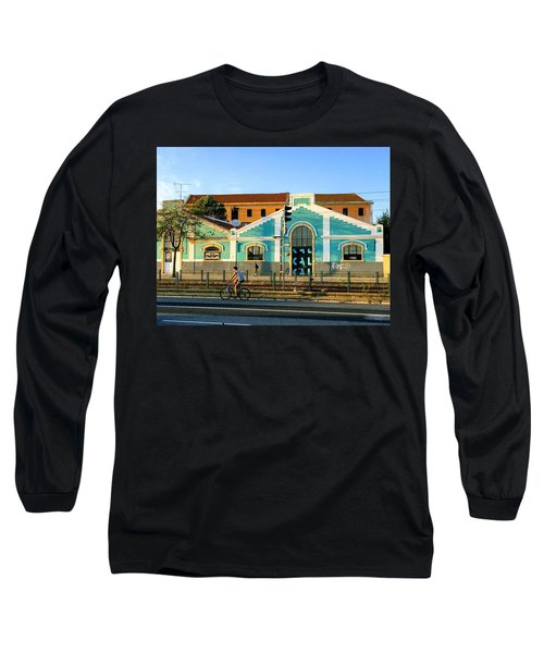 Biking In Lisboa Long Sleeve T-Shirt