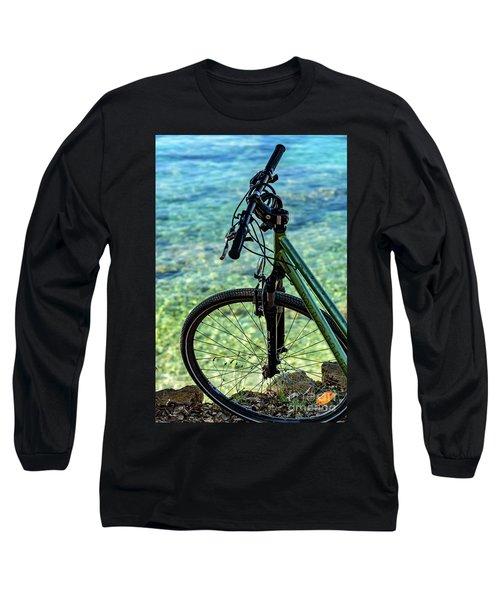 Biking The Rovinj Coastline - Rovinj, Istria, Croatia Long Sleeve T-Shirt